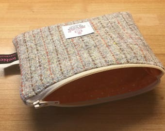 Harris Tweed coin purse, zipped coin pouch, tweed purse, change purse, scottish gift, friend gift
