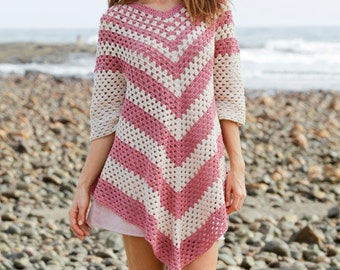 Poncho - Sweater poncho - Lacy poncho - Crocheted poncho sweater