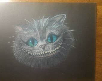 Original Drawing Cheshire Cat Alice in Wonderland