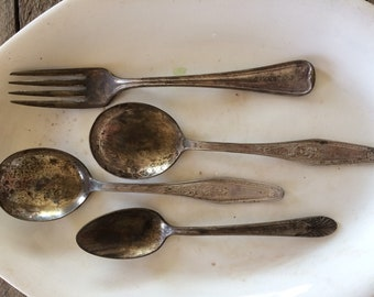 Vintage Silver Spoons and Fork