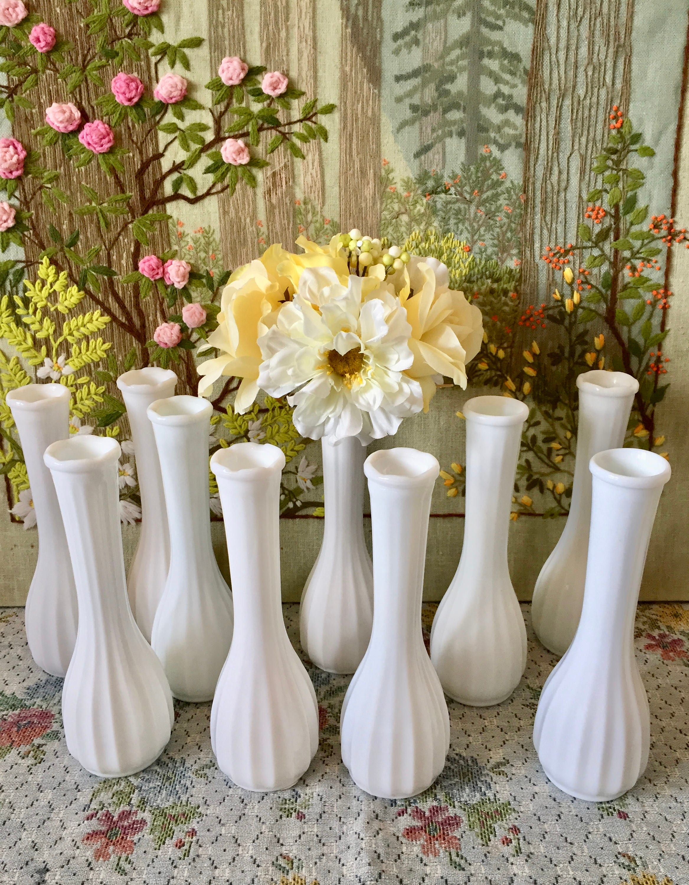 Milk glass vase wedding vases for centerpieces vases for zoom floridaeventfo Image collections
