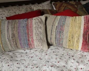 Colorful Striped Woven Cotton Pillowcase