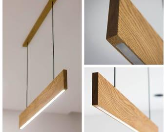 Modern LED Pendant Light - Wooden Lamp
