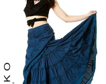 Sale! LONG WRAP SKIRT - Flamenco Skirt, wrap Skirt, GYPSIe skirt, belly dance skirt, Caskff