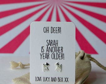 Oh deer! Another year old earrings! Just like Bambi