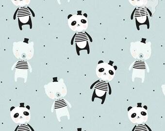 Suresh Dadi jersey Fabric, Tricot, Jersey, baby dust, fabric, E.A. Dadi, Panda, Blue, girls kid, Boy