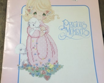 """Precious Moments Cross-Stitch/ Embroidery Pattern Book """"the Lord is my Shepard"""""""
