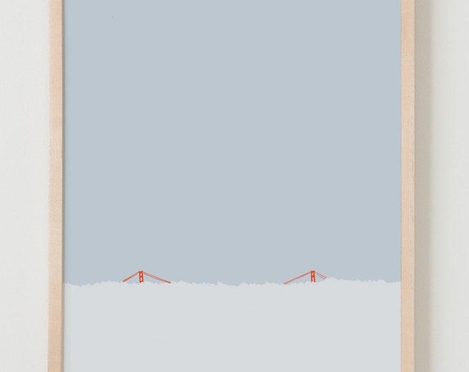 Fine Art Print. Golden Gate Bridge in the Fog. September 30, 2012.