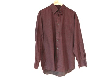 VERSACE style men's PAISLEY style ABSTRACT 90s short sleeve button up shirt long sleeve vintage button up down shirt
