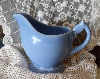 Vernon Kilns Native California Blue Creamer Excellent Condition