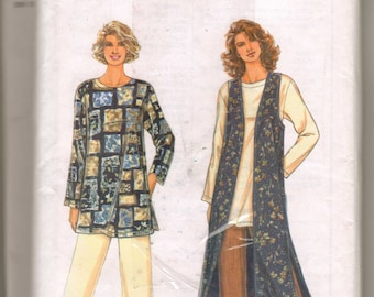 Simplicity 9313 Sewing Pattern Misses Lined Vest, Pants and Top XS,S,M,L,XL