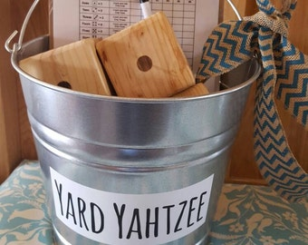 Yard Yahtzee, wedding game, yard game