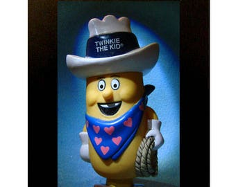 """Framed Twinkie the Kid Toy Photography 4""""x6"""" Hostess Mascot"""