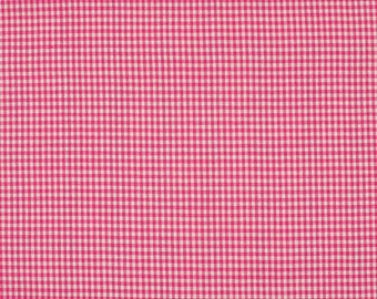 Fuchsia 2mm 100% cotton gingham fabric
