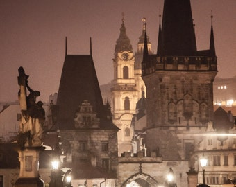 "Prague Photography, Prague Print, Charles Bridge, ""To the Castle"""