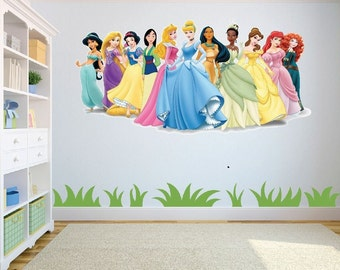 Nice Disney Princesses Wall Art/Decal Sticker Kids Room W98cm X H48cm