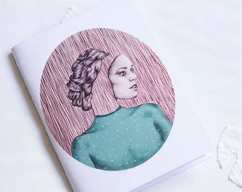 Handmade notebook ' Her own lines '