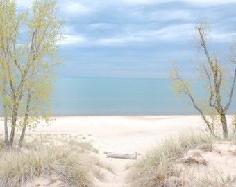 Indiana Dunes National Lakeshore, Path to Lake Michigan, beach print, walkway, landscape print P1104