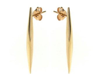 spear stud earrings, comet tail ear studs in Sterling silver 9ct Yellow, Rose or White Gold