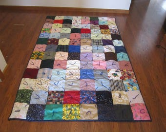 Twin patchwork quilt scrappy patch quilt I spy twin quilt hunting cabin quilt shabby chic quilt hand tied twin quilt rustic log cabin quilt
