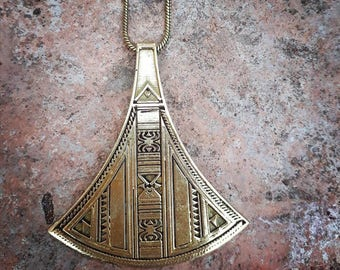 Tuareg brass necklace, tribal necklace, ethnic necklace