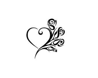 fancy heart stencils