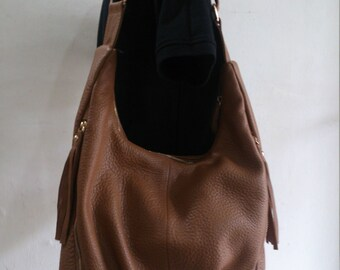 Mill Brown Hobo Leather Bag