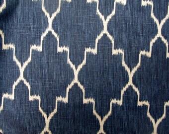 MONACO SAPPHIRE Blue designer, drapery/bedding/upholstery ikat fabric