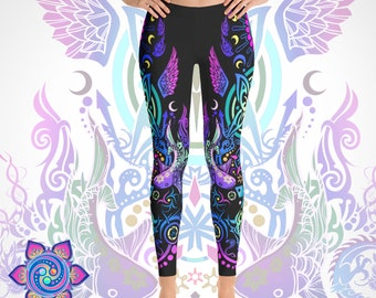 Butterfly Leggings Butterfly Clothing Womens Clothing Tights Psychedelic Leggings Festival Leggings Trippy Leggings