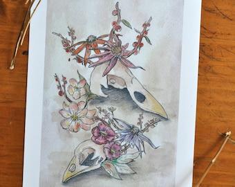 Bird Skull Print