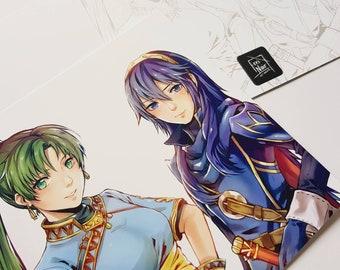 Fire Emblem; Lucina and Lyn Art Print