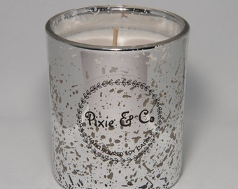 Scented Soy Candle - Silver Large