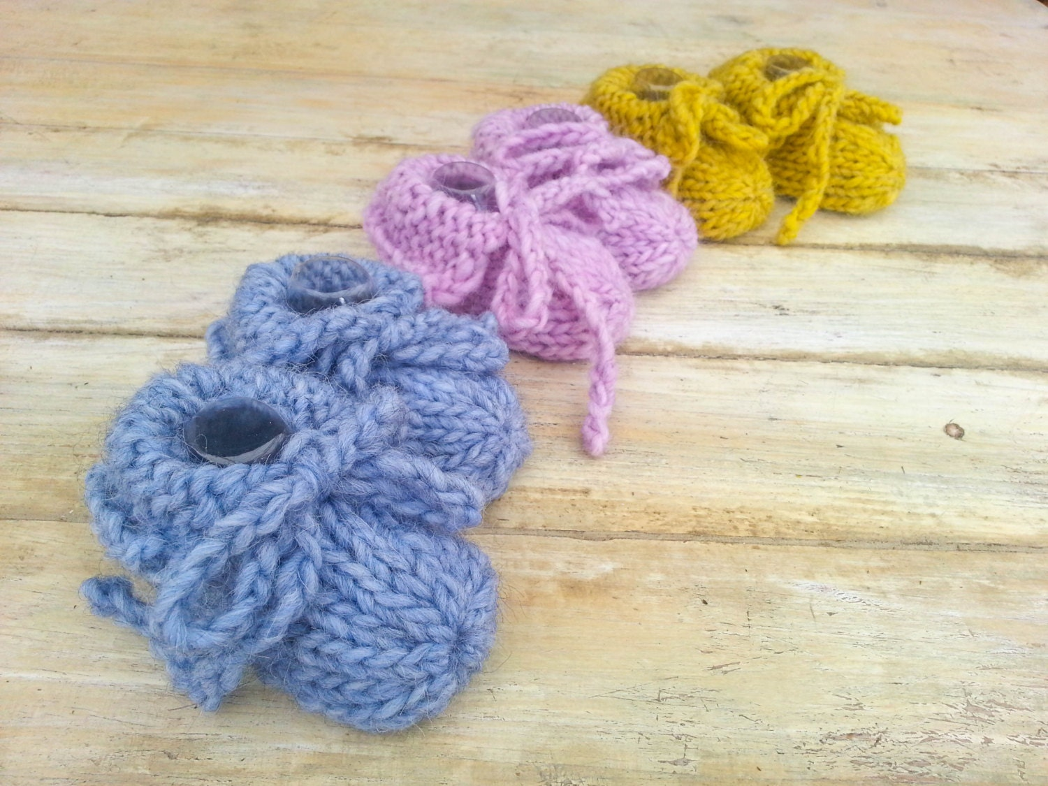 KNITTING PATTERN Baby Slippers Pattern Modern Booties