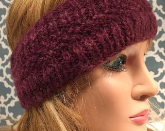 Hand Knit Alpaca Headband