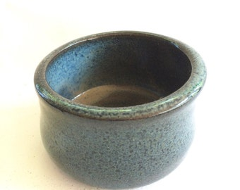 SMALL little blue bowl for prep work,  trinkets or serving, handmade, ceramic, pottery, ready to ship B110