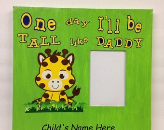 Personalized Nursery Canvas Art- Little Giraffe