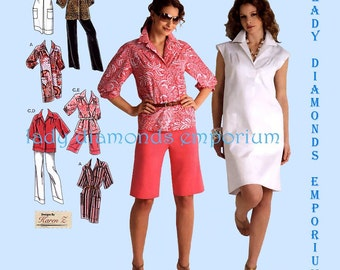 Simplicity 2894 Womens Pullover Tunic Top Pants Shorts Dress Shirtdress size 10 12 14 16 18 Petite to Plus Size Sewing Pattern Uncut FF