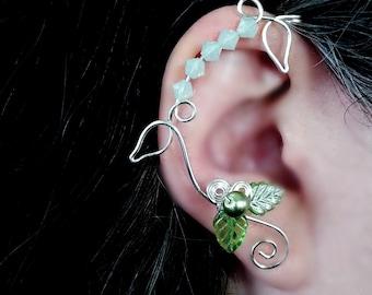 Ear Cuff Wrap Vine Spring Green Ear Dreams