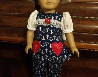 """Sailor Doll Outfit_18"""" Girl Doll Clothes"""