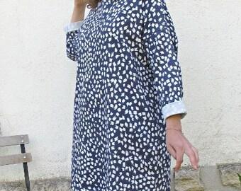 cotton fleece sweater dress