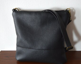 Simple black crossbody bag, Shoulder Bag