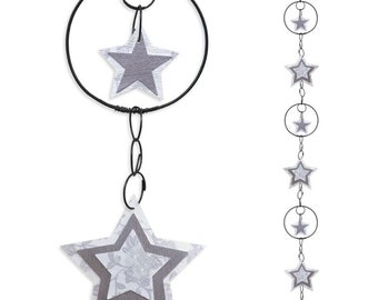 Wall hanging wire - coloured Garland - White - Star