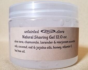 Shaving Gel 12.0 oz, Aloe Vera Gel, Aloe Vera Shaving Gel