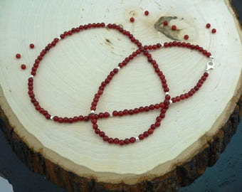 Reiki Healing Necklace, Carnelian Necklace, Aura Necklace, Crystal Energy Necklace, Root Chakra
