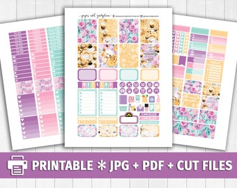 I HEART COFFEE Printable Planner Stickers/for use with Erin Condren/Weekly Kit/Silhouette Cutfiles/Autumn Pastel Coffee