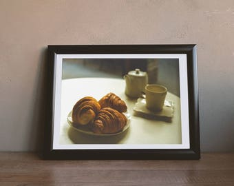 Croissants and Coffee -  Downloadable Photography Print Wall Art