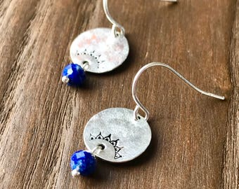 Lapis Zen Earrings