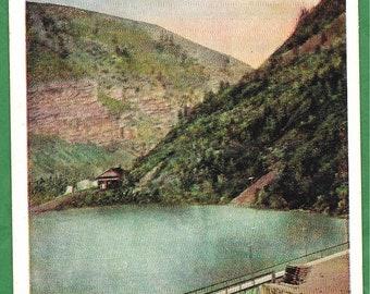 Vintage Postcard - Power Dam or Pineview Dam in Ogden River Canyon, Utah  (3496)