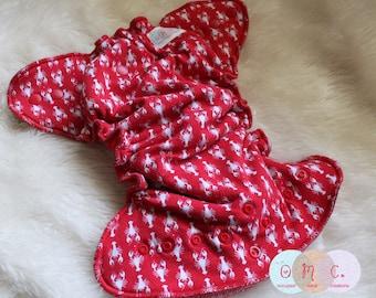 Little Lobsters Hybrid Diaper - Nautical Diaper - Neutral - Hybrid Diaper - One Size Diaper - Newborn Diaper - Made to Order