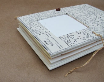 Paris Travel Journal - Scrapbook with Paris Map - for Art, Photos and Writing - Personalized
